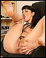 Sugar pulls her panties aside to play with her pussy